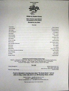 The Bardy Bunch Cast list, 2013