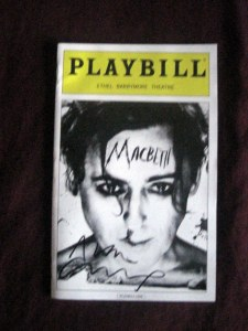 Macbeth playbill signed