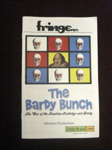 Playbill from the New York International Fringe Festival