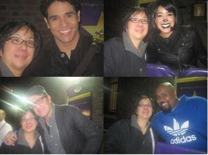 Clockwise from top left: Adam Jacobs, Courtney Reed, James Monroe Iglehart and James Moye