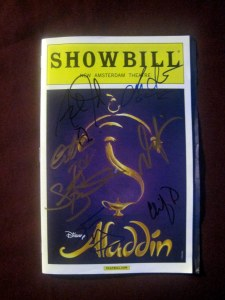 Aladdin signed playbill